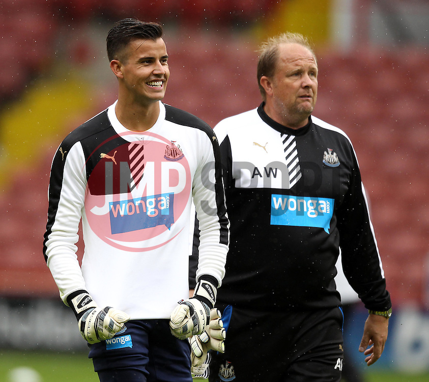 Newcastle United's Karl Darlow - Mandatory by-line: Robbie Stephenson/JMP - 26/07/2015 - SPORT - FOOTBALL - Sheffield,England - Bramall Lane - Sheffield United v Newcastle United - Pre-Season Friendly