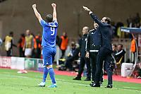can - 02.05.2017 - Monaco - Champions League Semifinale -  Monaco-Juventus nella  foto: Gonzalo Higuain esulta dopo il gol del 2 a 0