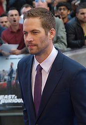 Paul Walker at the premiere of Fast & Furious 6 in London, Tuesday 7th May 2013.  Photo by: Max Nash / i-Images