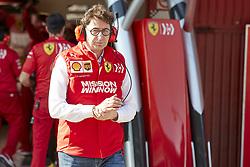 February 26, 2019 - Spain - Mattia Binotto, boss of the Scuderia Ferrrari, seen during the winter testing days at the Circuit de Catalunya in Montmelo  (Credit Image: © Fernando Pidal/SOPA Images via ZUMA Wire)