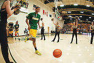 during the men's basketball game between the Binghamton Bearcats and the Vermont Catamounts at Patrick Gym on Monday night January 19, 2015 in Burlington, Vermont. (BRIAN JENKINS, for the Free Press)