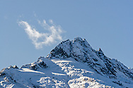 Alpha Mountain of the Tantalus Range in Tantalus Provincial Park, British Columbia, Canada