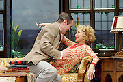 Hay Fever<br /> by Noel Coward<br /> at The Duke of York's Theatre, London, Great Britain <br /> press photocall <br /> 6th May 2015 <br /> <br /> Felicity Kendall as Judith Bliss<br /> <br /> <br /> Edward Killingback as Sandy Tyrell <br /> <br /> <br /> Photograph by Elliott Franks <br /> Image licensed to Elliott Franks Photography Services