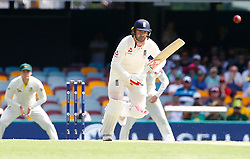 Mark Stoneman plays a shot during day one of the Ashes Test match at The Gabba, Brisbane.