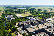 Nederland, Noord-Holland, Amsterdam, 29-06-2018; Holendrecht, Academisch Medisch Centrum AMC in Amsterdam Zuidoost. Universiteitsziekenhuis en poliklinieken, faculteit geneeskunde. <br /> AMC Academic Medical Center in Amsterdam; university hospital and outpatient clinics, faculty of medicine.<br /> luchtfoto (toeslag op standard tarieven);<br /> aerial photo (additional fee required);<br /> copyright foto/photo Siebe Swart