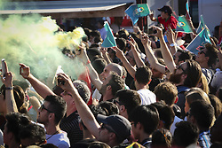 June 25, 2018 - Na - Lisbon, 06/25/2018 - Report on the Portugal Arena, at the Terreiro do Paço in Lisbon, during the broadcast of the game Portugal vs Iran, for the group stage of the 2018 World Cup  (Credit Image: © Atlantico Press via ZUMA Wire)