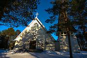 Inari Sami Church, Lapland - Inarin saamelaiskirkko, Suomi, Finland, built in 1952.