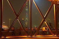 Chine, Shanghai, Garden Bridge ou pont Waibaidu sur le Bund //  China, Shanghai, Garden Bridge or Waibaidu Bridge on the Bund