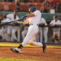 George Iskenderian (17) hits a single in the fourth inning against the Grand Junction Rockies.