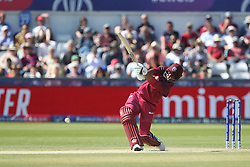 July 1, 2019 - Chester Le Street, County Durham, United Kingdom - West Indies' Shimron Hetmyer attinge during the ICC Cricket World Cup 2019 match between Sri Lanka and West Indies at Emirates Riverside, Chester le Street on Monday 1st July 2019. (Credit Image: © Mi News/NurPhoto via ZUMA Press)