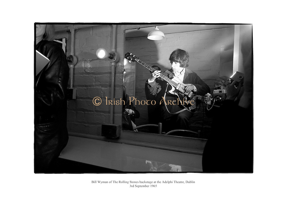 Bill Wyman of The Rolling Stones backstage at the Aldelphi Theatre, Dublin.<br />