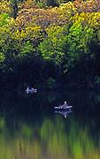 Fishing on Little Buffalo State Park lake, Perry Co., PA