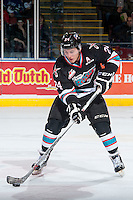 KELOWNA, CANADA - OCTOBER 23: Tyson Baillie #24 of Kelowna Rockets skates with the puck against the Prince George Cougars on October 23, 2015 at Prospera Place in Kelowna, British Columbia, Canada.  (Photo by Marissa Baecker/Shoot the Breeze)  *** Local Caption *** Tyson Baillie;