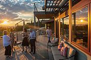 Wine tasting at sunset, Alexana Winery, Dundee Hills AVA, Willamette Valley, Oregon