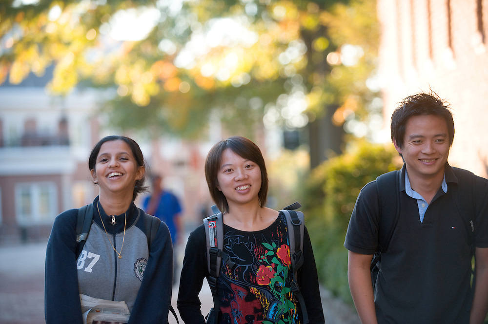 19089Campus fall.. left to right:..Ashwin Nande, Lu Tang, Jung lee