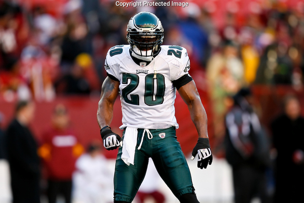 21 Dec 2008: Philadelphia Eagles safety Brian Dawkins #20 before the game against the Washington Redskins on December 21st, 2008. The Redskins beat the Eagles 10-3 at FedEx Field in Landover, Maryland.