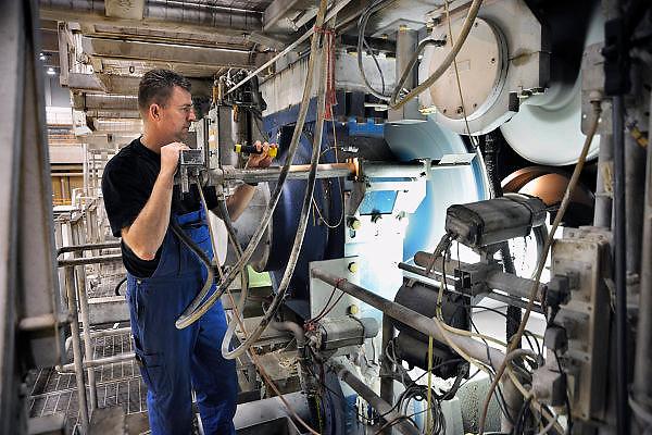 Nederland, Renkum, 17-4-2010Productieproces bij de papierfabriek Norske Skog, Parenco.Foto: Flip Franssen/Hollandse Hoogte