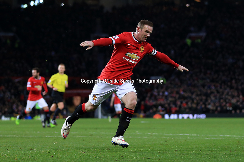 26th December 2014 - Barclays Premier League - Manchester United v Newcastle United - Wayne Rooney of Man Utd celebrates after scoring their 2nd goal - Photo: Simon Stacpoole / Offside.