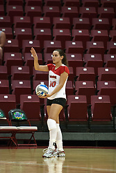 19 AUG 2006   Manoela Vieira DaCunha prepares to serve the ball..Game action took place at Redbird Arena on the campus of Illinois State University in Normal Illinois.