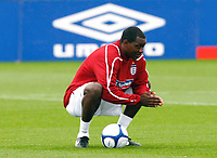 England Training at The London Colney. 2nd Sept 2008. <br /> Credit  Kieran Galvin<br /> Emile Heskey. ( England  ). England Training at The London Colney. 2nd Sept 2008. <br /> Credit  Kieran Galvin