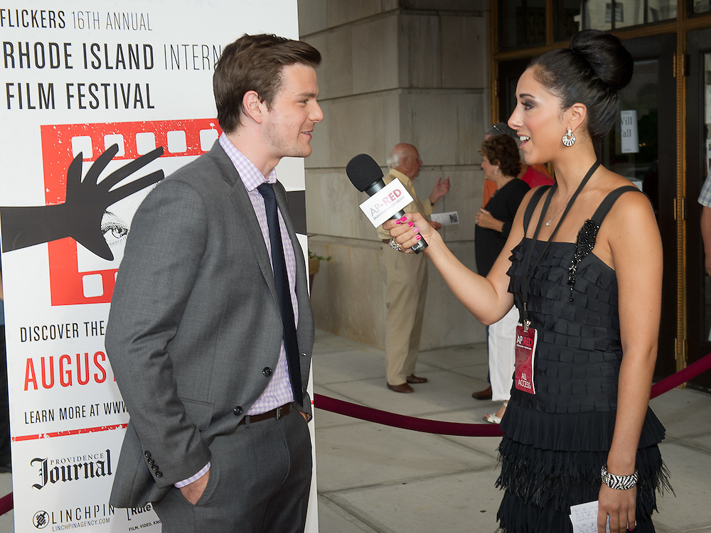 "The cast of ""Brilliant Mistakes"" appear on the red carpet at the Rhode Island International Film Festival, where the world premiere of the movie was presented on August 11, 2012 at the Veteran's Memorial Auditorium in Providence, RI."