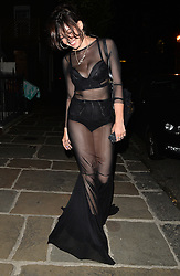 Model Daisy Lowe arriving at a house party in London, UK. 06/07/2014<br />BYLINE MUST READ : GOTCHAIMAGES.COM<br /><br />Copyright by © Gotcha Images Ltd. All rights reserved.<br />Usage of this image is conditional upon the acceptance <br />of Gotcha Images Ltd, terms and conditions available at<br />www.gotchaimages.com