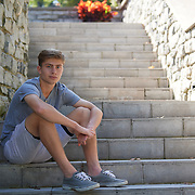 Sewickley, PA - October 8: Thomas Scott during his senior portrait session in Sewickley, PA on October 8, 2018. (Photo by Shelley Lipton)