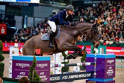 Mathy Francois Jr, BEL, Uno de La Roque<br /> Leipzig - Partner Pferd 2019<br /> © Hippo Foto - Stefan Lafrentz<br /> 18/01/2019