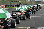 Competitors in Race 3, Round 3 of the 2018 Castrol Toyota racing Series at Hampton Downs on Sunday January 28, 2018 wait on the grid as a result of red flag due to an accident.<br /> Copyright photo: Bruce Jenkins / www.photosport.nz