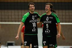 20161029 NED: Eredivisie, Vallei Volleybal Prins - Advisie SSS: Ede<br />Dwin Brouwer, Michiel van de Beek of Advisie SSS <br />©2016-FotoHoogendoorn.nl / Pim Waslander