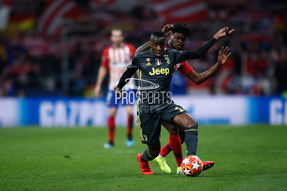 Blaise Matuidi of Juventus and Thomas Teye of Atletico de Madrid during the UEFA Champions League, round of 16, 1st leg football match between Atletico de Madrid and Juventus on February 20, 2019 at Wanda metropolitano stadium in Madrid, Spain - Photo Oscar J Barroso / Spain ProSportsImages / DPPI / ProSportsImages / DPPI