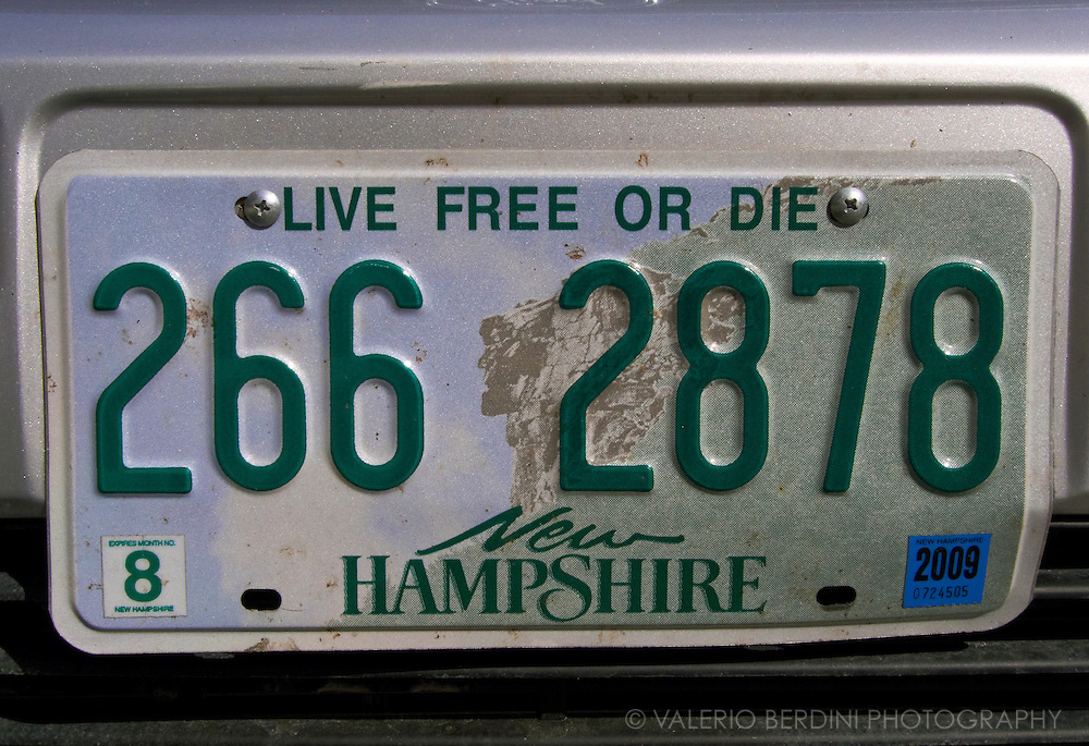 Live free or die.<br /> New Hampshire car plate.