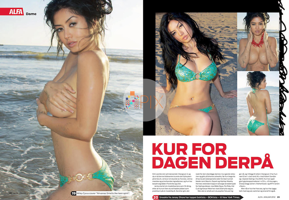 Model-turned-actress Kim Lee - who scored a sexy role in The Hangover Part II - in a 4-page feature in ALFA magazine, Norway.  <br /> <br /> Images from our shoot 'Kim Lee', available for worldwide use with a full release:  http://www.apixsyndication.com/gallery/Kim-Lee/G0000G1THnSfKbLA/C0000N.dmyTX9C_k