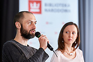 Warsaw, Poland - 2017 April 07: (L) Jakub Jedrak from Polish Smog Alarm speaks during The Day of Health - science conference in the National Library on April 07, 2017 in Warsaw, Poland.<br /> <br /> Mandatory credit:<br /> Photo by © © Adam Nurkiewicz / Mediasport / Mediasport<br /> <br /> Picture also available in RAW (NEF) or TIFF format on special request.<br /> <br /> Any editorial, commercial or promotional use requires written permission from the author of image.<br /> <br /> Adam Nurkiewicz declares that he has no rights to the image of people at the photographs of his authorship.