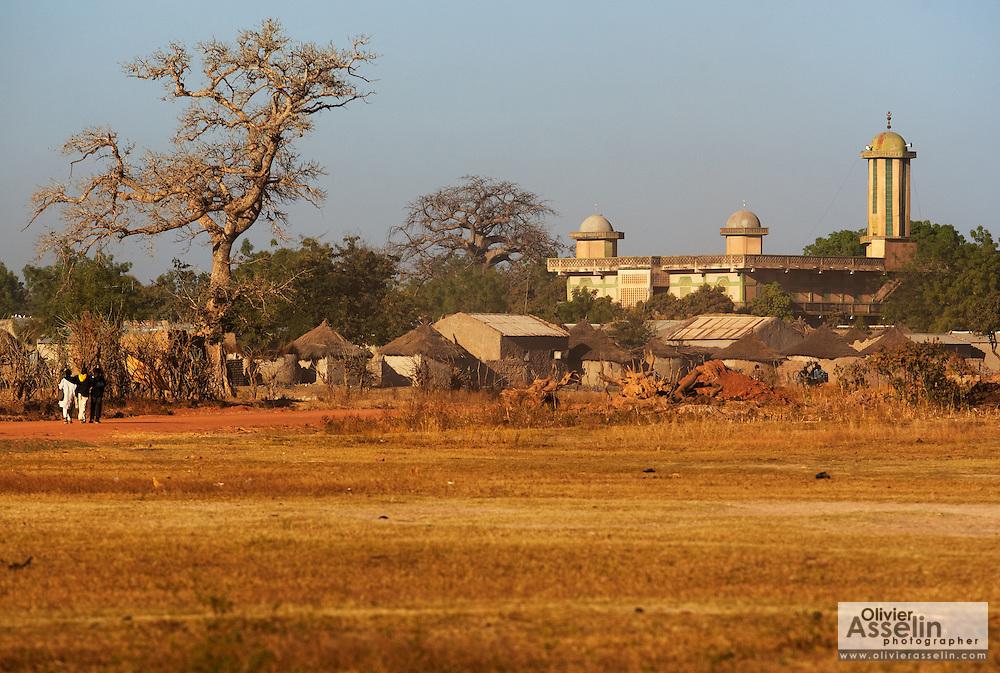 Mosque in the village of Bankoumana, near Bamako, Mali on Friday January 15, 2010.