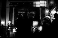 Napoli, Italia - 20 febbraio 2013. Nichi Vendola, leader di Sinistra Ecologia e Libertà ( SEL ) durante un comizio a Napoli. L'attuale presidente della regione Puglia potrebbe essere uno degli outsider alle prossime elezioni politiche che si terranno il 24 e 25 febbraio 2013..Ph. Roberto Salomone Ag. Controluce.ITALY - Nichi Vendola, leader of the SInistra Ecologie e Libertà (SEL) party during a speech in Naples on February 20, 2013.