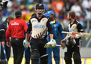 Colin Munro after his NZ record for the fastest Twenty20 50 runs. Twenty20 match between New Zealand Black Caps and Sri Lanka at Eden Park in Auckland, New Zealand. Sunday 10 January 2016. Copyright photo: Andrew Cornaga / www.photosport.nz