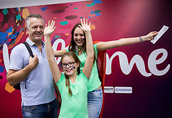 Matjaz Zmuc with his family prior to the Final basketball match between National Teams  Slovenia and Serbia at Day 18 of the FIBA EuroBasket 2017 at Sinan Erdem Dome in Istanbul, Turkey on September 17, 2017. Photo by Vid Ponikvar / Sportida