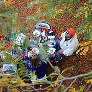 Chicago Bears fans tailgate amid fall foliage before the game Thursday, Oct. 10, 2013 at Soldier Field. (Brian Cassella/Chicago Tribune) B583246313Z.1 <br /> ....OUTSIDE TRIBUNE CO.- NO MAGS,  NO SALES, NO INTERNET, NO TV, CHICAGO OUT, NO DIGITAL MANIPULATION...