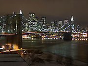 Manhattan skyline with Brooklyn bridge January 2005