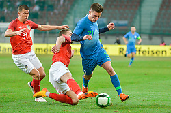 Verbic Benjamin of Slovenia during friendly football match between National teams of Austria and Slovenia on March 25, 2018 in Woerthersee Stadion, Klagenfurt, Austria. Photo by Mario Horvat / Sportida