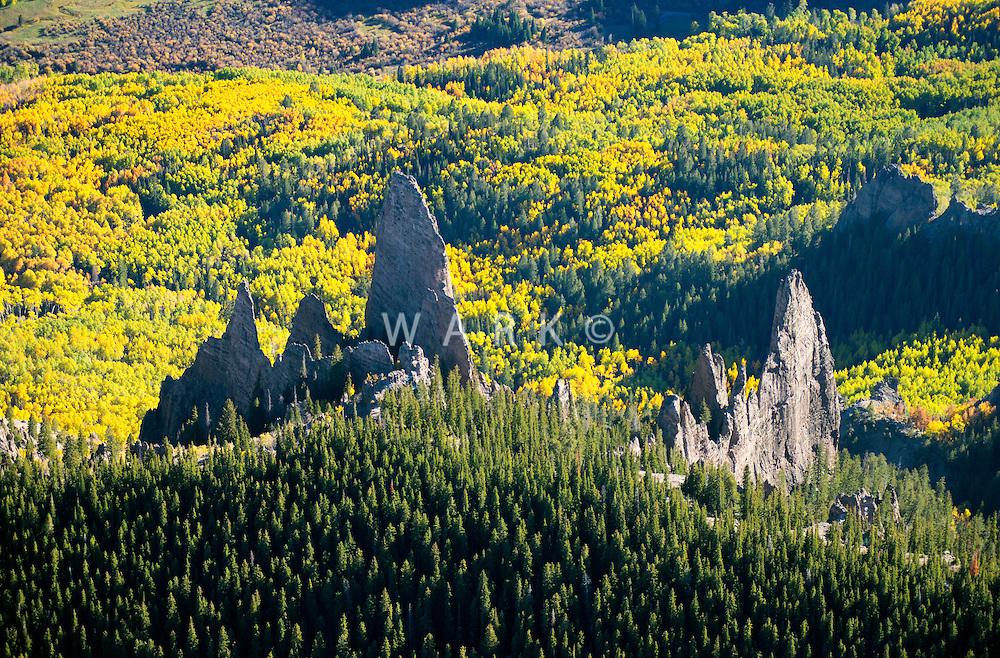 Fall colors north of Gunnison, Colorado. Oct 5, 2013
