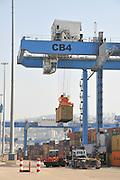 Israel, Haifa, Haifa port Container handling