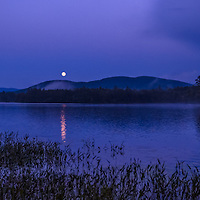The Super Moon over Squam Lake, New Hampshire.