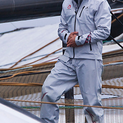 ALINGHI : Ernesto Bertarelli<br /> Day one, No wind: race cancelled<br /> 2010 America's Cup, Valencia<br /> <br /> ©2010 Kaufmann/Forster go4image.com