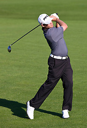 February 14, 2010; Pebble Beach, CA, USA;  Alex Prugh on the second hole during the final round of the AT&T Pebble Beach Pro-Am at Pebble Beach Golf Links.