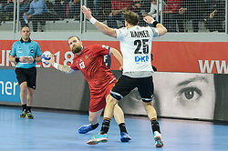 Horak Pavel of Czech Republic during handball match between National teams of Germany and Czech Republic on Day 2 in Main Round of Men's EHF EURO 2018, on January 19, 2018 in Arena Varazdin, Varazdin, Croatia. Photo by Mario Horvat / Sportida