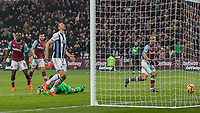 Football - 2016 / 2017 Premier League - West Ham United vs. West Bromwich Albion<br /> <br /> Sofiane Feghouli of West Ham looks across to the linesman after rolling the ball into the West Brom goal at the London Stadium.<br /> <br /> COLORSPORT/DANIEL BEARHAM