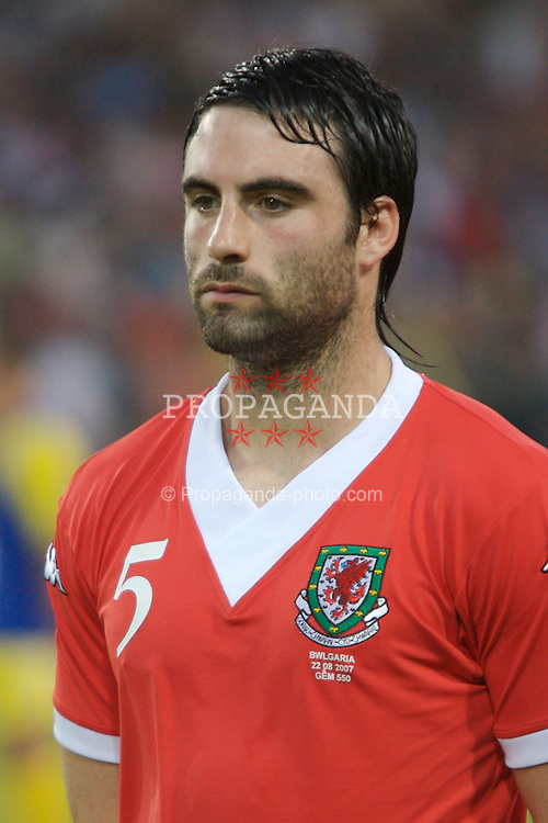 Bourgas, Bulgaria - Wednesday, August 22, 2007: Wales' Craig Morgan before the International Friendly match against Bulgaria at the Naftex Stadium. (Photo by David Rawcliffe/Propaganda)