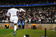 Jozy Altidore after scoring first goal for USA  during the Semi Final soccer match of the 2009 Confederations Cup between Spain and the USA played at the Freestate Stadium,Bloemfontein,South Africa on 24 June 2009.  Photo: Gerhard Steenkamp/Superimage Media.